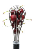 Whisk Full of Ripe Cherries Royalty Free Stock Image
