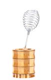 Whisk in wooden jar Royalty Free Stock Images