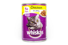 Whiskas猫食 免版税库存图片
