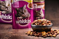 Whiskas cat food products of Mars Incorporated Stock Photos