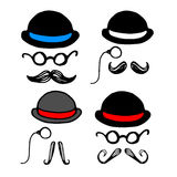 Whisker facial mustache vector black illustration retro face hair style hat. Whisker facial mustache vector black illustration retro face hair style Royalty Free Stock Image