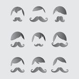 Whiskers mustache guy avatar Stock Photography