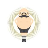 Whiskers mustache guy avatar Royalty Free Stock Photo