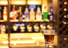 Whiskey at bar Royalty Free Stock Photos