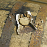 Whiskey Barrell In Distillery Royalty Free Stock Photography