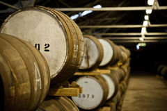 Whiskey barrels Stock Photos