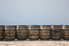 Whiskey barrels royalty free stock image