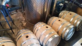 Whiskey barrels Stock Photos