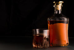 Whiskey beverage in glass Stock Photo