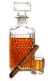 Whiskey and big cigar Royalty Free Stock Photos