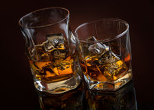 Whiskey on black Royalty Free Stock Image