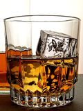 Whiskey Bottle & Glass Abstract Stock Photos