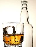 Whiskey Bottle & Glass Abstract Royalty Free Stock Photo