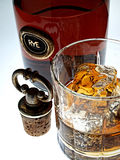 Whiskey Bottle & Glass Abstract Royalty Free Stock Image