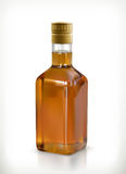 Whiskey in the bottle icon. Whiskey, alcohol drink in the bottle, vector icon,  on white background Stock Photography
