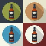 Whiskey bottle icon. Royalty Free Stock Photos