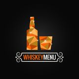 Whiskey bottle poly design background Royalty Free Stock Photography
