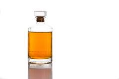 Whiskey bottle in white background Royalty Free Stock Image
