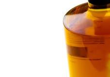 Whiskey bottle on white background Royalty Free Stock Images