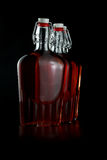 Whiskey bottles Stock Images
