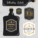 Whiskey Brands Label Design Template Stock Photos