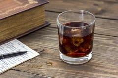 Whiskey and camera Stock Image