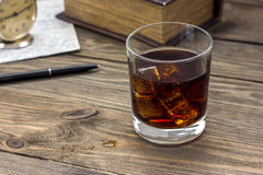 Whiskey and camera Royalty Free Stock Images