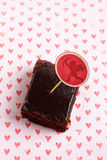 Whiskey Chocolate Brownies. For Valentine's Day Stock Images