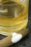 Whiskey and cigar 1 Stock Photos