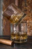 Whiskey and Cigar Stock Photos