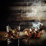 Whiskey and cigars stock images