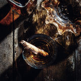 Whiskey and cigars Royalty Free Stock Photography