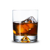 Whiskey. Close up of whiskey with ice cubes stock photo