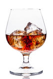 Whiskey / Cognac with Ice Cubes Royalty Free Stock Photo