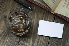 Whiskey and Coke , launched the book and business cards Royalty Free Stock Image