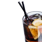 Whiskey cola cocktail. Whiskey cola. Summer refreshing cocktail Stock Photo
