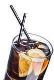 Whiskey cola cocktail. Whiskey cola. Summer refreshing cocktail Stock Image