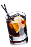 Whiskey cola cocktail. Whiskey cola. Summer refreshing cocktail Royalty Free Stock Photography