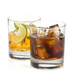 Whiskey and cola cocktails Royalty Free Stock Image