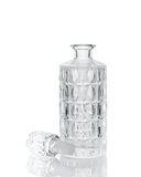 Whiskey crystal decanter  on white Stock Image