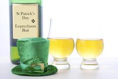 Whiskey d'Irlandais de jour de St Patricks Photographie stock libre de droits