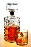 Whiskey Decanter and Glass Royalty Free Stock Photo