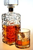 Whiskey Decanter and Glass Royalty Free Stock Photos