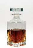 Whiskey Decanter half full with spirit Stock Photography