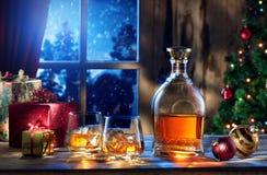Whiskey del nuovo anno Fotografia Stock