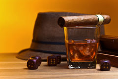 Whiskey and dice Royalty Free Stock Photography