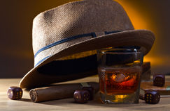 Whiskey and dice Royalty Free Stock Image