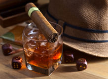 Whiskey and dice Stock Image