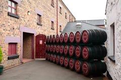 Whiskey distillery, Bushmills, Northern Ireland stock photo