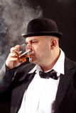 Whiskey drinker Stock Photo